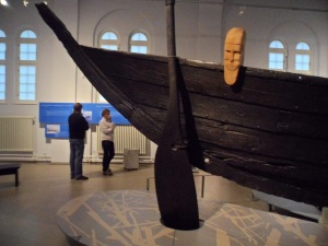 The stern of the Nydam ship in Schloss Gottorf, Schleswig, Germany