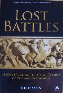 "The cover of ""lost battles"" by Philip Sabin"