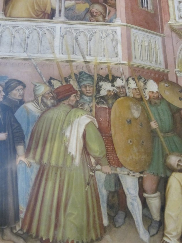 Detail from a fresco by Altichiero in Padua in the 1370s or 1380s